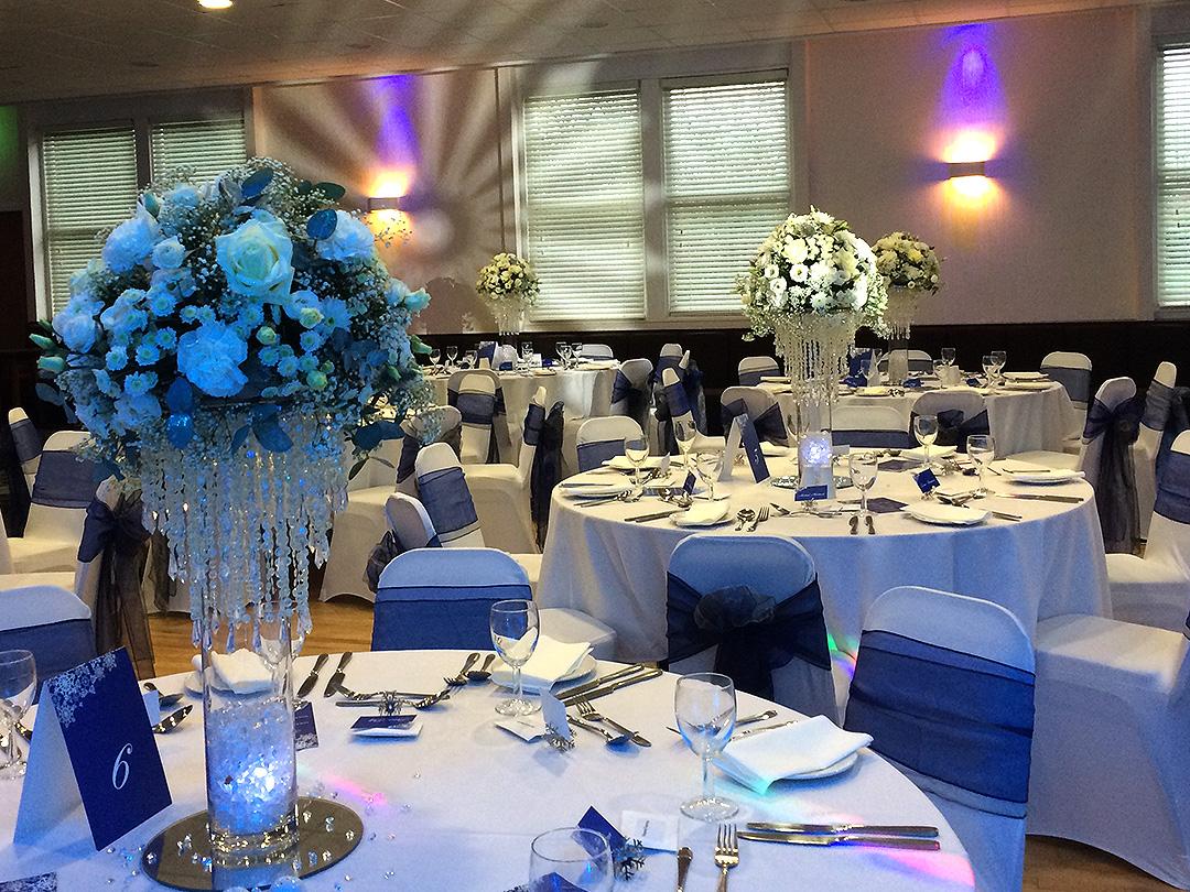 Wedding Breakfast Seating Blue Colour Scheme