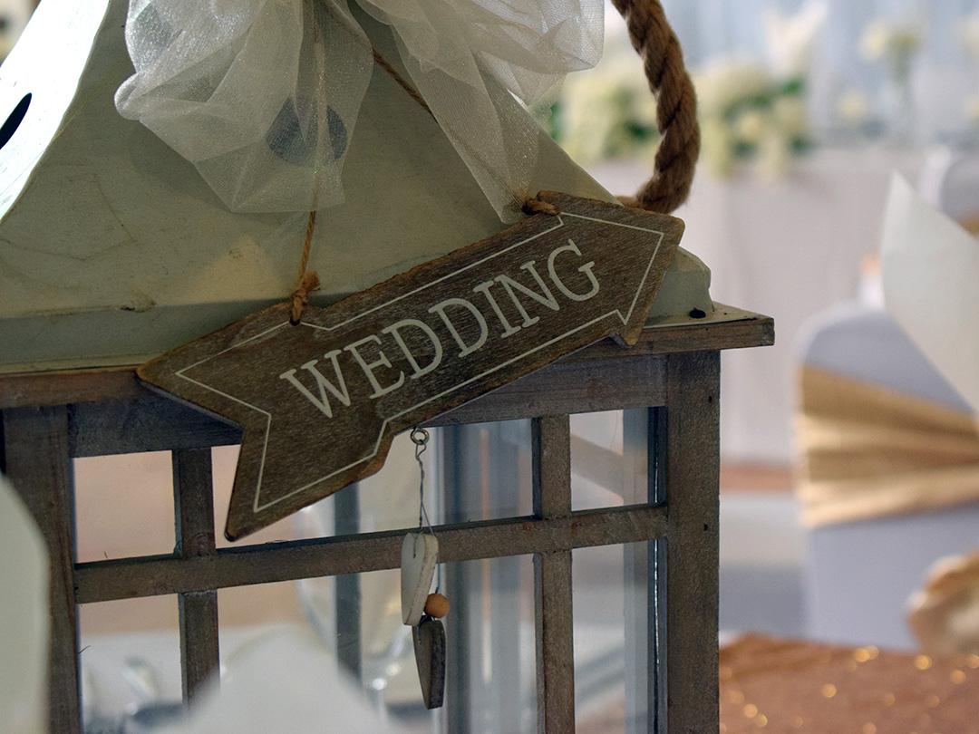 Wedding Breakfast Lantern Centre Piece
