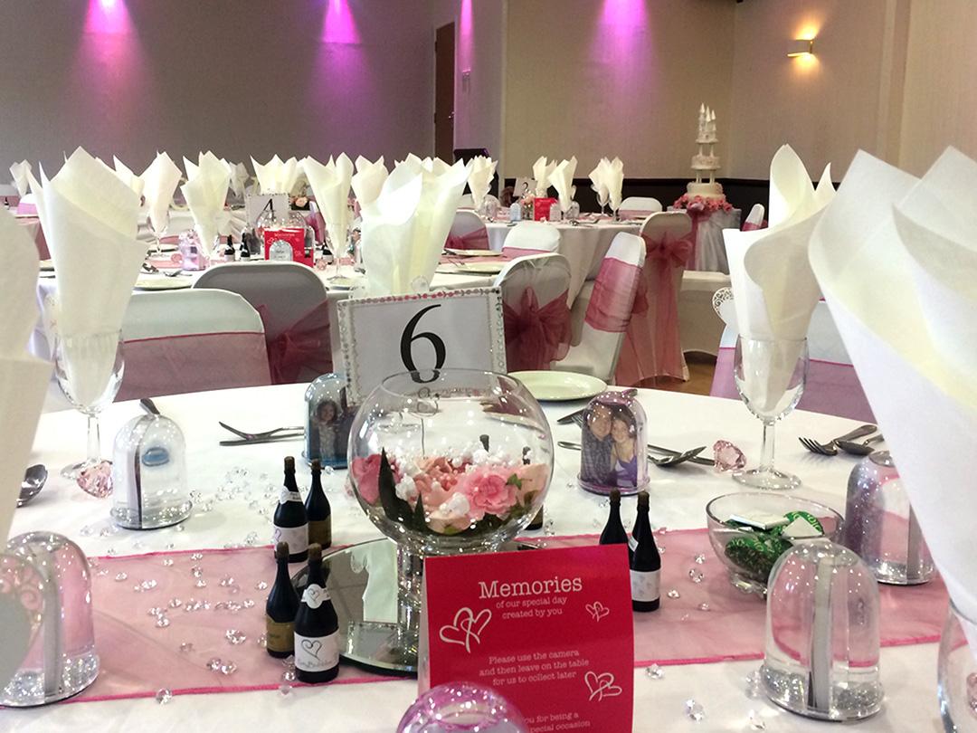 Wedding Breakfast Blush Pink Colour Scheme